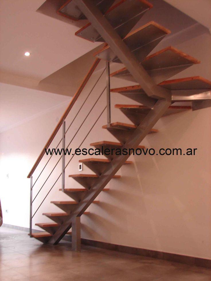 Escalera eje central venta de escaleras y barandas novo for Barandas de escalera