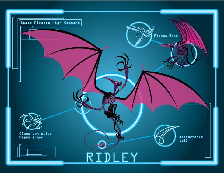 Info link space pirates high command ridley from metroid one of the original bosses along with kraid