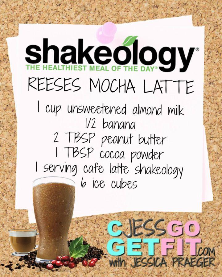 SHAKEOLOGY RECIPE reeses mocha latte