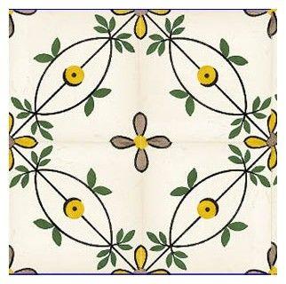 Sintra Antique Handpainted, Portuguese, Tiles - A1-Portuguese tiles - 110-Flora single tile