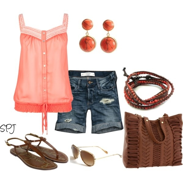 Jane, created by bszjacks on Polyvore #cleverFashion, Summer Looks, Summer Wear, Style Inspiration, Summer Style, Cute Summer Outfits, Clothing Shoes, Denim Shorts, Dreams Closets