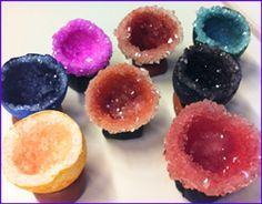 DIY Egg Geodes with alum and acid dyes- a fun project for easter and to teach kids about crystal formation!