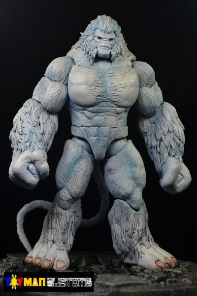 This is a Marvel Legends Marvel Now Omega Flight Wendigo Custom Action Figure made by Figure Realmer ToyManCustoms he used the marvel legends twin-pack hulk body and the rest was sculpted