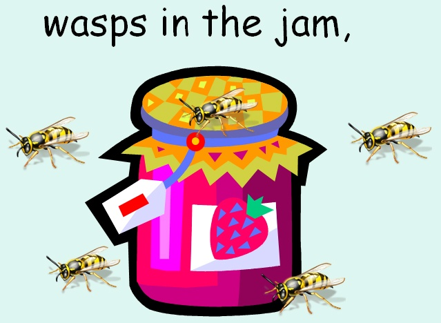 These two minibeast rhymes are useful for looking at repetitive poetic structure: The Picnic Tea focuses on rhyming; Jump and Jiggle focuses on alliteration