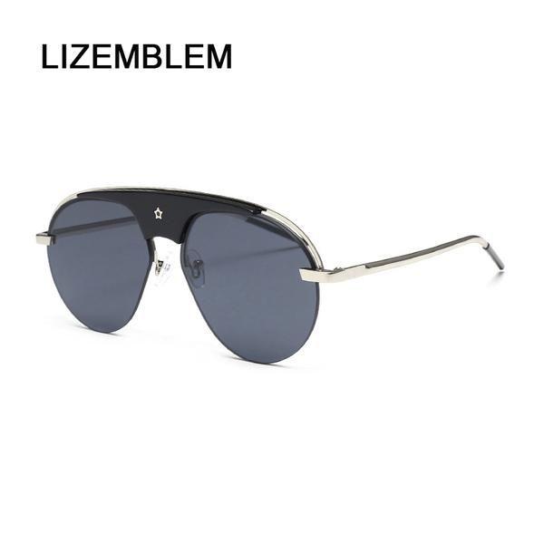 b976379e911  SUNGLASSES  NEW LIZEMBLEM Round Sunglass Vintage Women Fashion Brand  Designer Sun Glasses Rose Gold