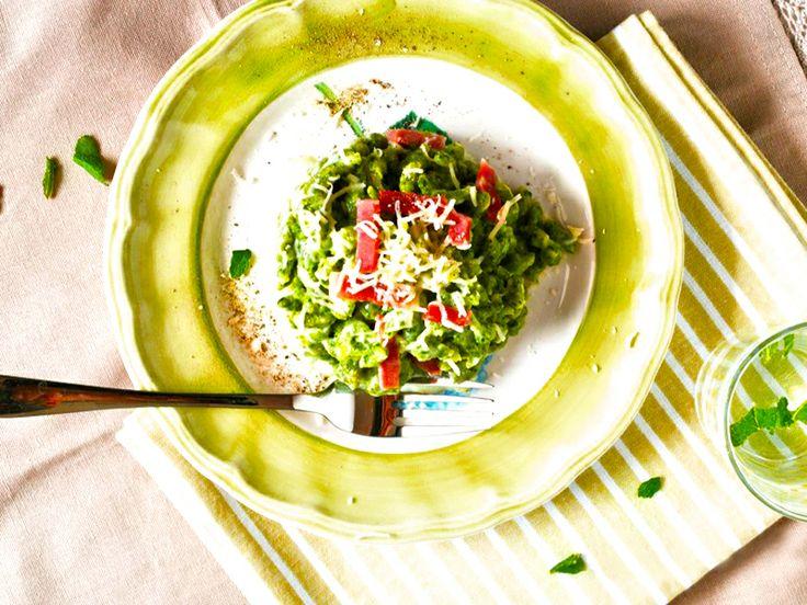 Il Cucchiaio di Giada   Spaztle spinaci & speck