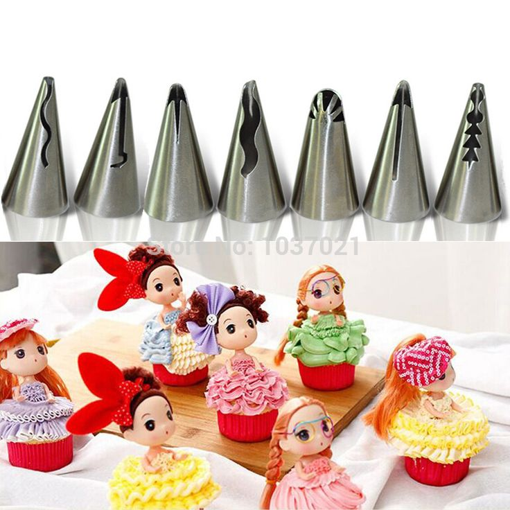 7 Pcs/set Stainless Steel Russian Tulip Icing Piping Nozzles Wedding Cake Decorating Tips Sets Tulip Barbie Skirt Dress on Aliexpress.com | Alibaba Group