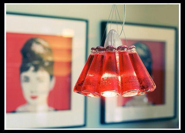 Use hashtag #saturdayrecycling for green ideas!! They could inspire someone Ingo Maurer design #camparilight #lamps #pendantlight #barfurniture #repurposedbottles #upcycledglassbottle #Gabriella #Ruggieri selection
