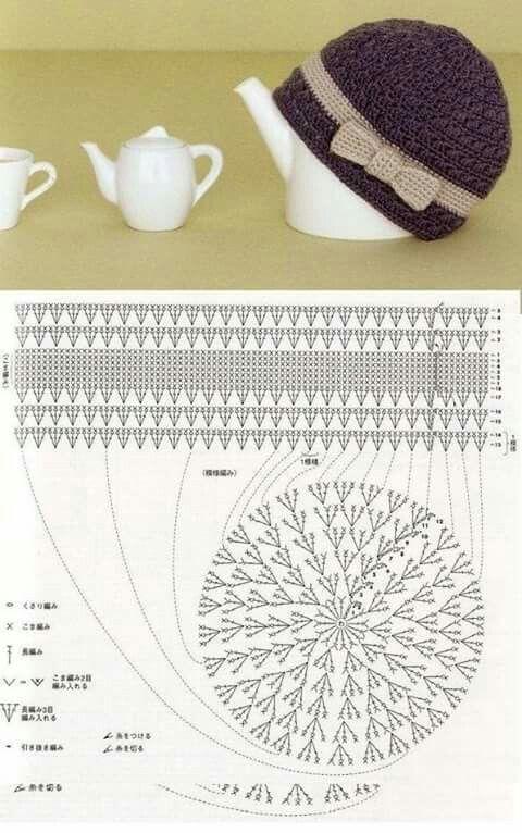 357 best gorros a crochet ( ganchillo) images on Pinterest ...