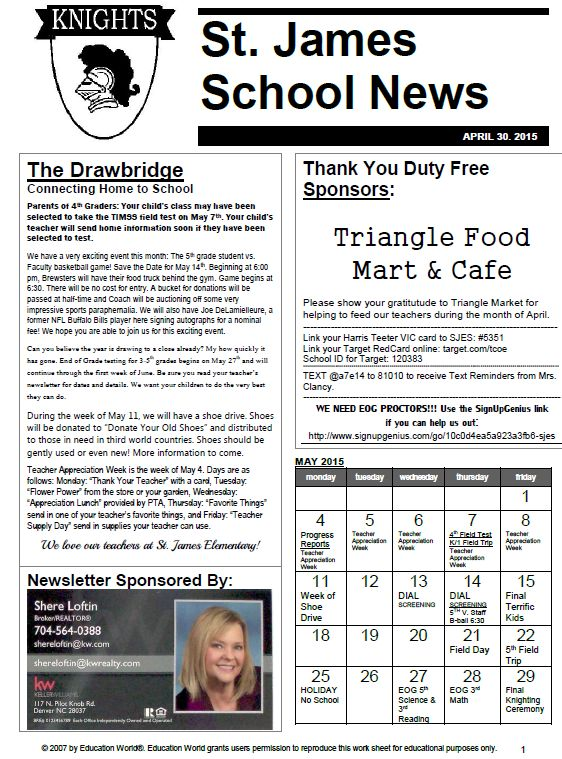Best  School Newsletters Ideas On   Parent Newsletter