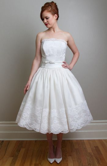 24 best fancybridal images on pinterest wedding frocks for Vera wang tea length wedding dress