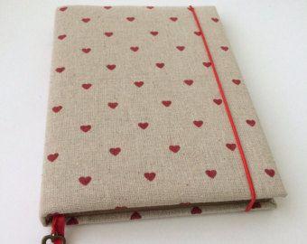 Flax notepad eco-friendly linen notebook journal book kraft eco sketchbook handmade diary gift for her heart datebook female girls