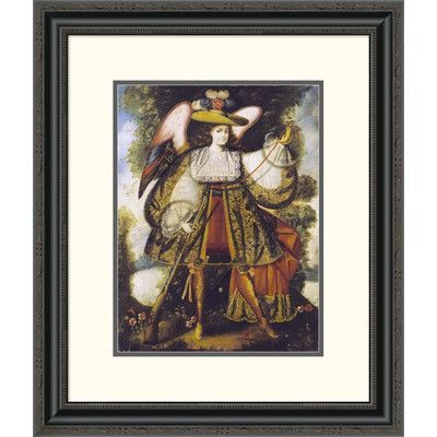 "Global Gallery 'Arcangel Con Arcabuz' by Cuzco Framed Painting Print Size: 26"" H x 22.1"" W x 1.5"" D"