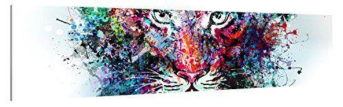 Premium Impression d'art de toile murale image–Tiger Artwork–XXL Photos d'Impression de qualité allemande marques–Toile sur châssis…