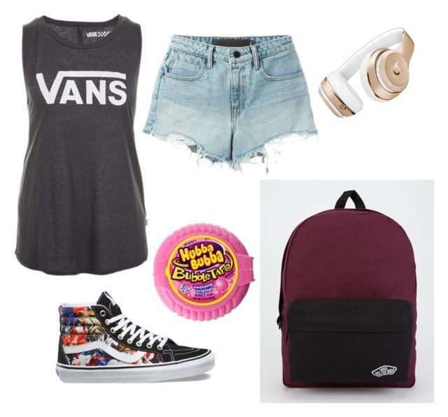 """Summer teen swag outfit!!!!!"" by addisontravis on Polyvore featuring Vans, T By Alexander Wang and Beats by Dr. Dre"