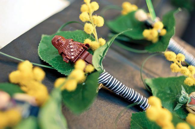 Star Wars buttonholes?! #weddingideas