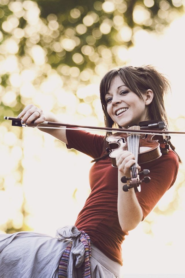 lindsey stirling!!! I might get to see her this summer.