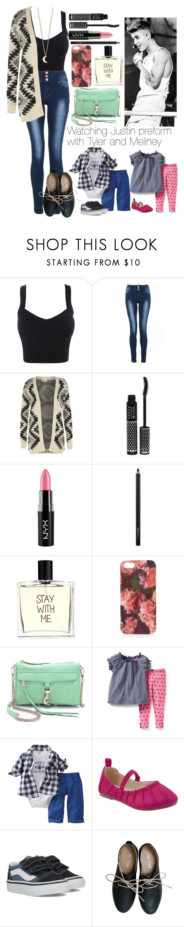 """""""Watching Justin Preform with Tyler and Meliney"""" by justgirlydirectioners ❤ liked on Polyvore featuring Quiz, Justin Bieber, Cameo Rose, LORAC, NYX, MAC Cosmetics, Liaison De Parfum, Topshop, Rebecca Minkoff and Carter's"""