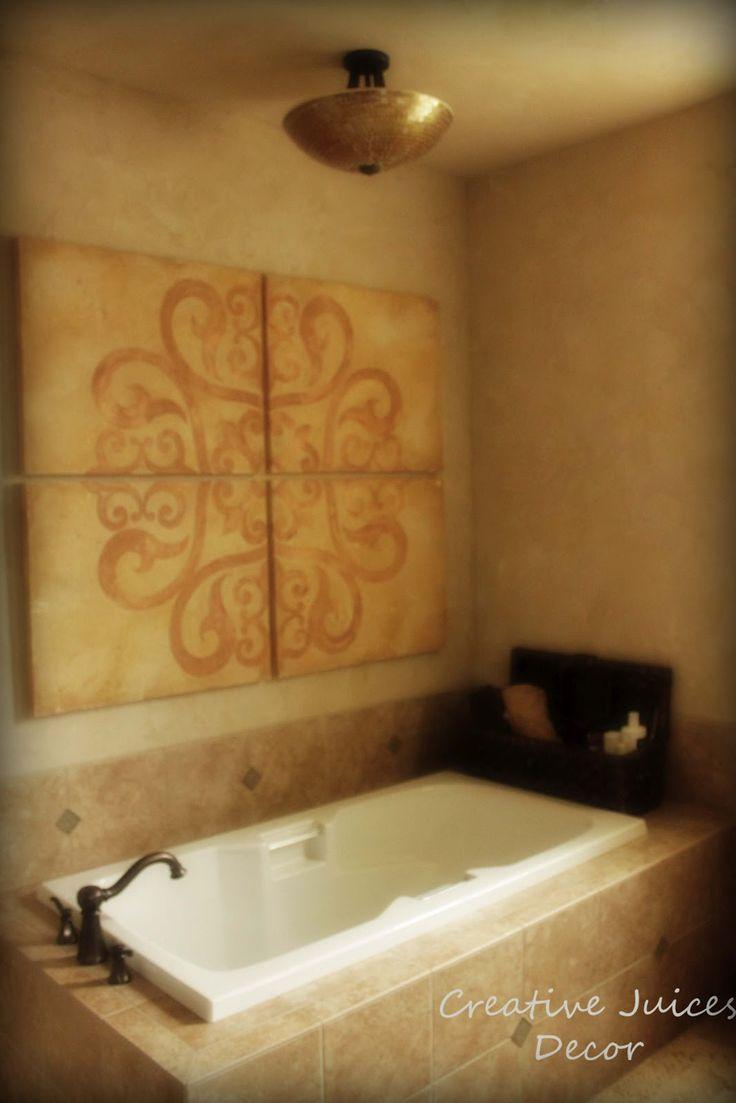 Tuscan wall decor bathroom - Diy Tuscan Decor Diy Craigslist Cart Blog Classic Tuscan Master Bathroom Inspiration