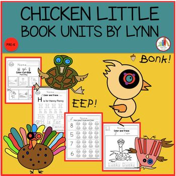 CHICKEN LITTLE BY REBECCA AND ED EMBERLEY Color and trace H is for Henny Penny trace F is for Foxy Loxy trace L is for Loosey Goosey trace C is for Chicken Little trace L is for Lucky Ducky trace T is for Turkey Lurky trace Alphabet practice upper and lowercase Trace the lines