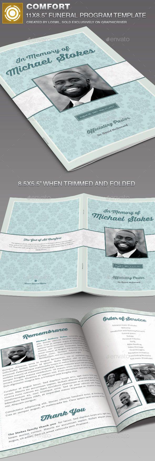 51 best Funeral Program Templates images on Pinterest   Program ...