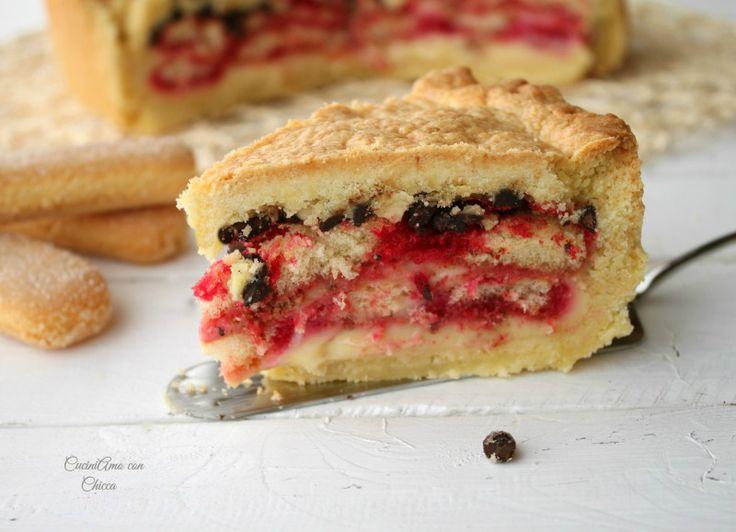 La torta del golosone è un dolce che ho preparato nel fine settimana.. ricetta con tutorial fotografico..Ingredienti crema pasticcera gocce di cioccolata sa