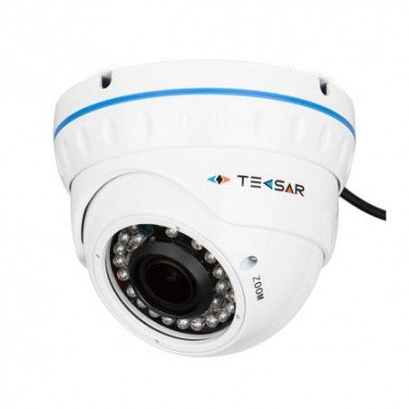 """Купольная видеокамера для наблюдения в металлическом корпусе. Технологии: AHD, аналоговая. Матрица: 1/3"""" Sony IMX225. Разрешение: 1280x960 пикс. (AHD-M), 1000 ТВЛ (в режиме аналога). Фокусное расстояние: 2,8-12 мм. Дальность ИК подсветки: до 30 метров. Функциональные возможности: AE, AWB, AF, 3DNR, FRC, D-Zoom, FLK, HLC/BLC. Индекс защиты IP66."""