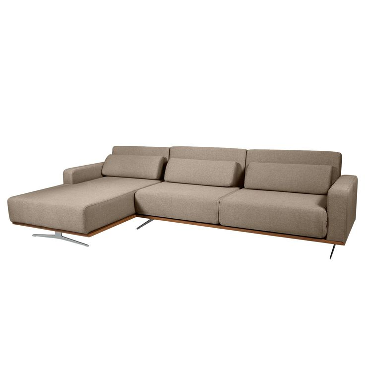 Chaiselongue mit schlaffunktion  Ecksofa Copperfield II (mit Schlaffunktion) - Webstoff - Longchair ...