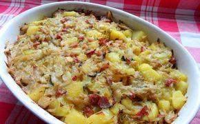 Zapečené zelí s bramborami | NejRecept.cz.......... http://www.nejrecept.cz/recept/zapecene-zeli-s-bramborami-r926