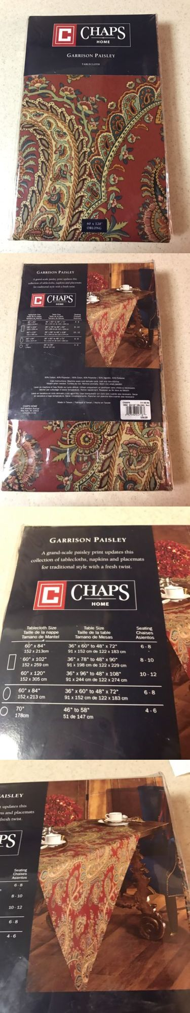 Tablecloths 20663: Chaps Home Garrison Paisley 60 X 120 Oblong Tablecloth ~ New -> BUY IT NOW ONLY: $37.99 on eBay!