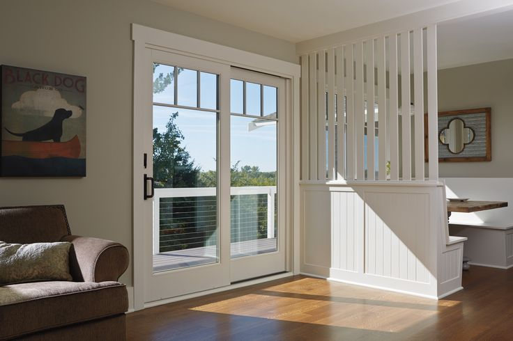 Get the look of traditional french doors and the space for Looking for french doors