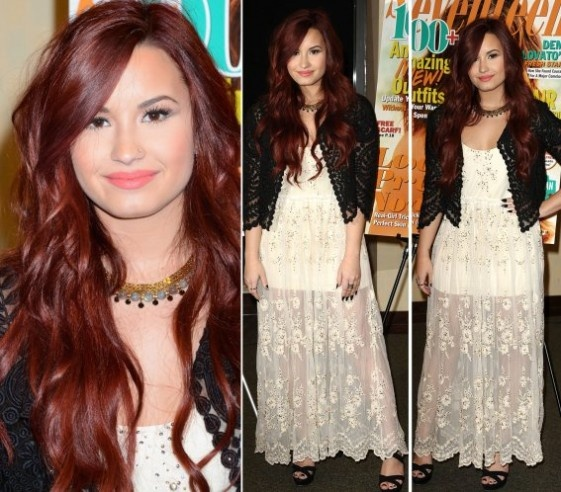 So I'm loving the Demi Lovato red hair! Trying to get my hair this color!