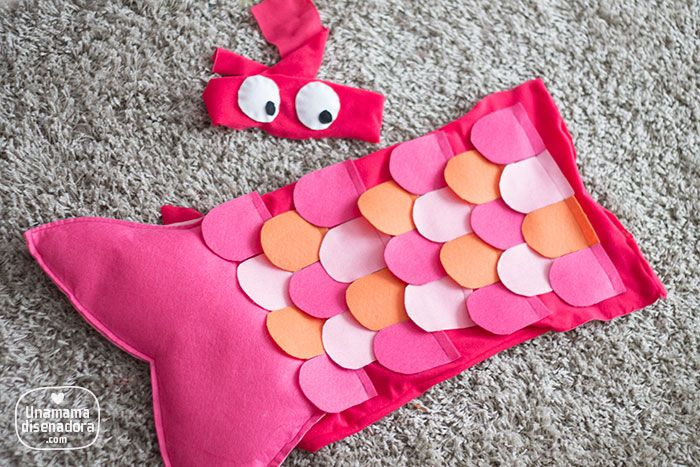 Disfraz de pez casero para niños - Homemade fish costume for kids