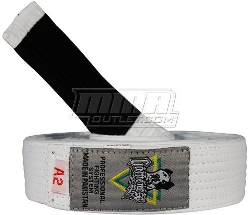 """Gameness Jiu Jitsu Belt White, A2 by Gameness. $16.95. These Gameness adult BJJ belts are made with love and it shows in their excellent stitching and overall quality. Thicker and brighter than most BJJ belts, these will make you stand out on the mat. Belts are Available in White, Blue, Purple, Brown, and Black..Gameness belt lengths:A1 109"""" 277cmA2 113"""" 287cmA3 119"""" 302cmA4 125"""" 318cmA5 130"""" 330cm"""