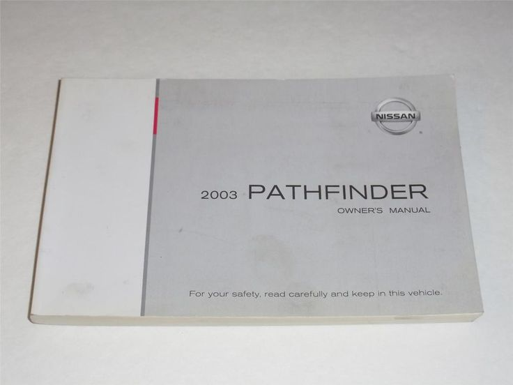 2003 Nissan Pathfinder Owners Manual Book