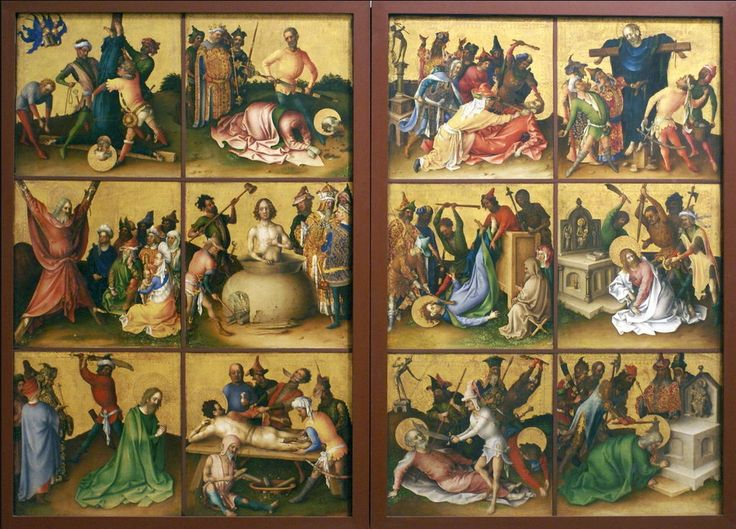 Image result for stefan lochner martyrdom of the apostles