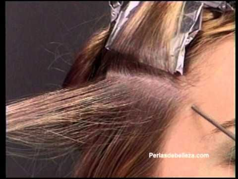 Mechas con papel aluminio paso a paso - YouTube