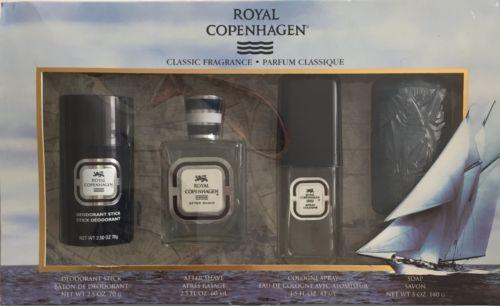 Rare-Vintage-Royal-Copenhagen-4-pc-Mens-Gift-Set-2-x-Cologne-Deodorant-Soap