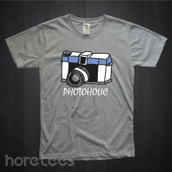 Photoholic Camera dari tees.co.id oleh Hore Tees