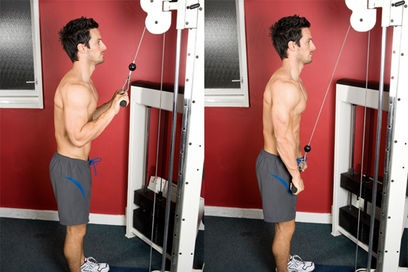 Triceps pull-downs - Fitness motion