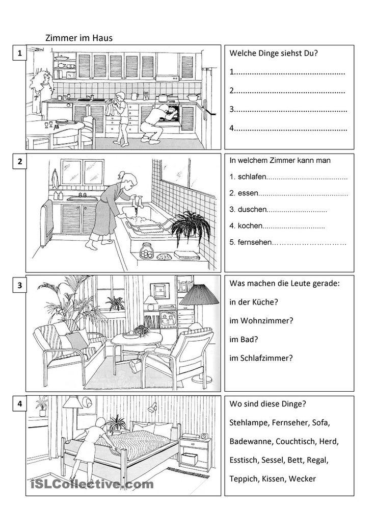 72 besten deutsch wortschatz haus bilder auf pinterest for Wohnung dekorieren lernen