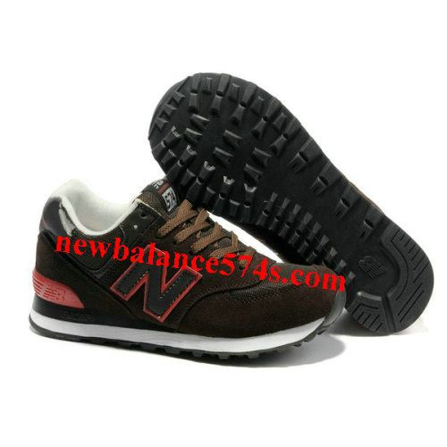 New Balance 574 classic Brown Red edge men NB Shoes