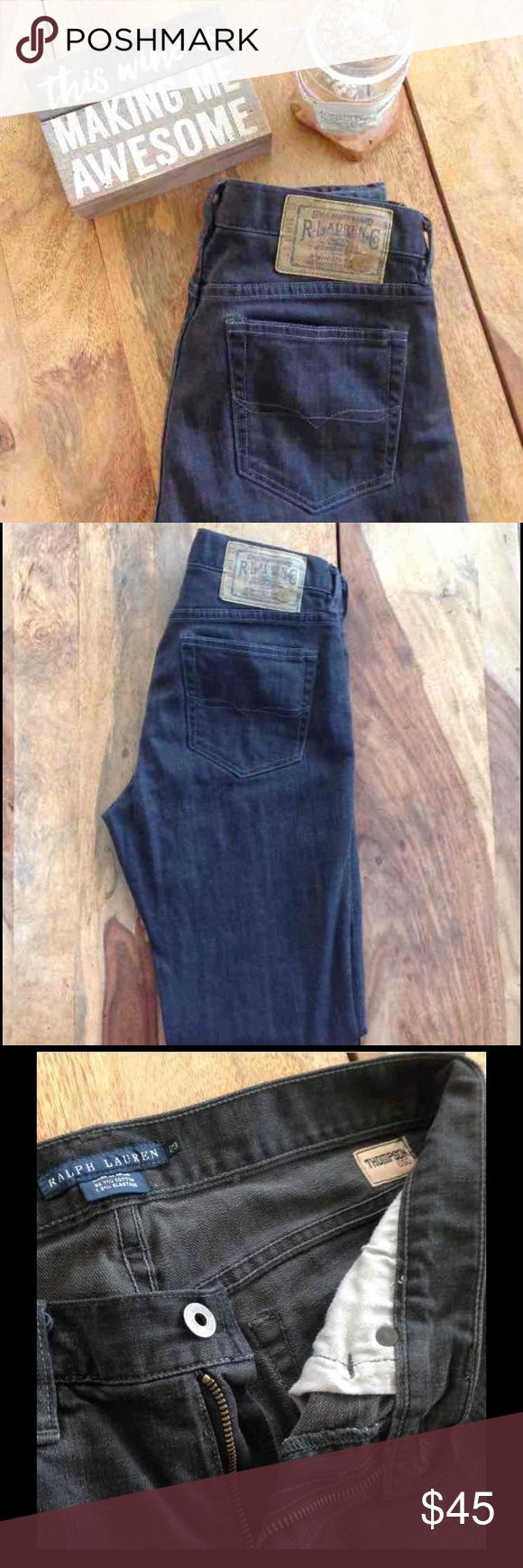 Ralph Lauren Thompson 650 Jeans: 29 These jeans are part of Ralph Lauren's blue label brand  Worn maybe once.  I'm selling the, because they never fit me.  Color is SLATE. Sold for less on Ⓜ️. Ralph Lauren Blue Label Jeans