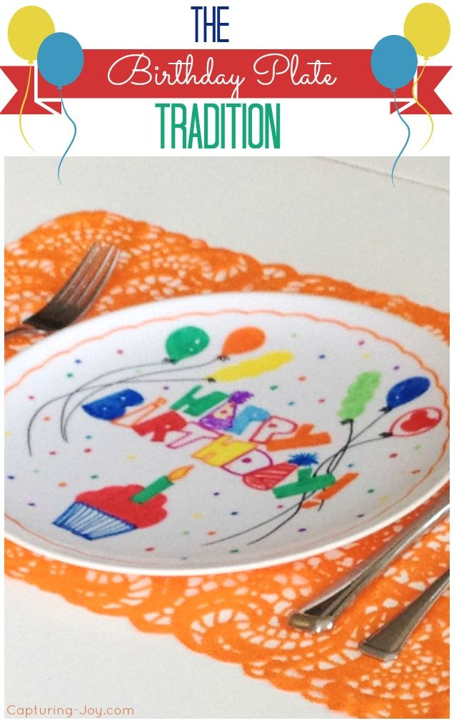 Love this Birthday Party Plate tradition to celebrate with your kids! KristenDuke.com