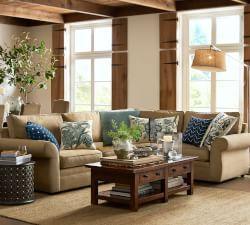 blues w khaki sofa!!!  Pottery Barn Coupon Codes, Pottery Barn Coupons, Sale & Promo Codes | Pottery Barn