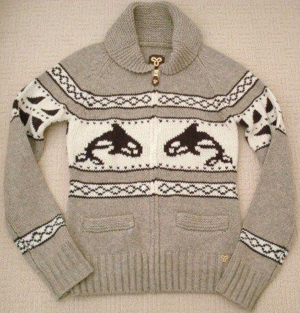 Aritzia Whale brown wool cowichan cardigan zip sweater jacket