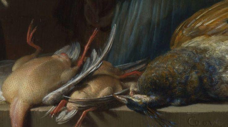 Stofuitdrukking: Perfect geschilderde textuur, zoals het vel van de kip en de veren van de pauw.