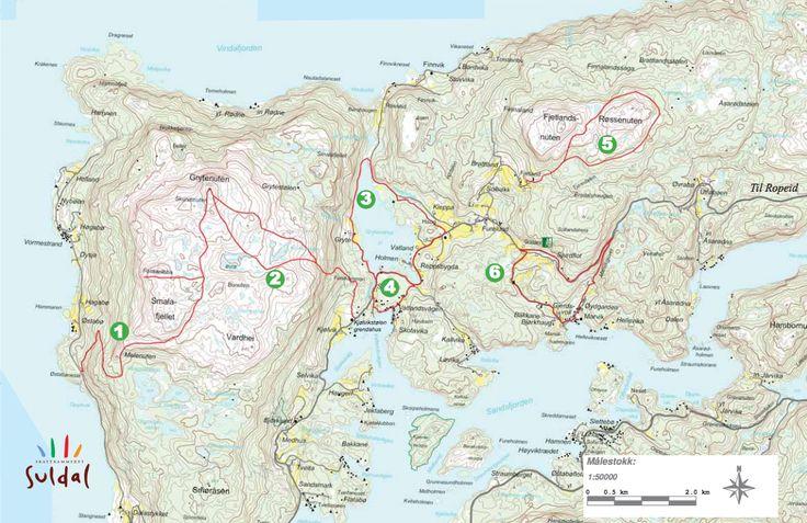 Turkart for Ropeidhalvøya