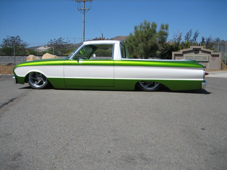 attach 1963 ford ranchero custom unibody drop full custom airbag suspension front airstruts and custom fabricated arms 4 link rear end new