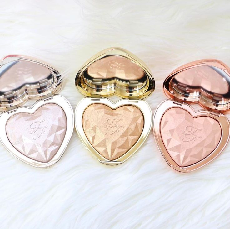 pinterest: @lilyosm   too faced cosmetics brand new highlighters compact shimmer face makeup glow